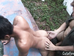 Unruly twink getting ass punishment