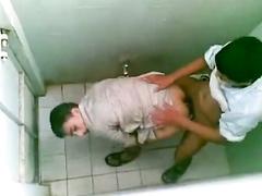 Hardcore Arab gay sex in the public toilet