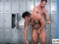 Rocky strong muscled twinks are pleasuring hot gay anal fuck