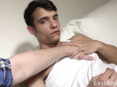 Latina twink gets hot from being oiled up and fondled