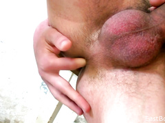 Painter twinks got wildly horny at work and enjoyed blowjob